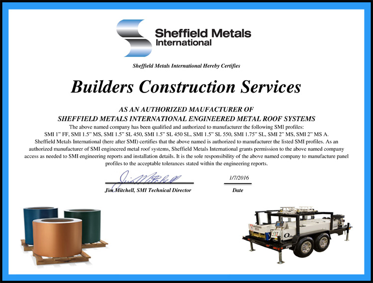 Authorized Metal Roofing Contractors